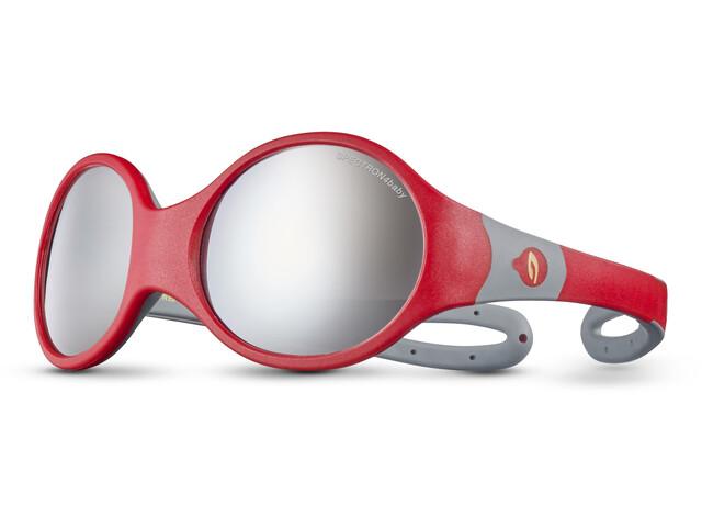 Julbo Loop L Spectron 4 Okulary przeciwsłoneczne Dzieci, red/grey/grey flash silver